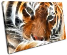 Tiger Fractal Orange Animals - 13-0037(00B)-SG32-LO